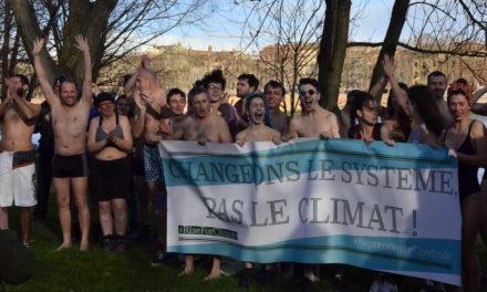 En maillots de bains sous 8°C pour le climat