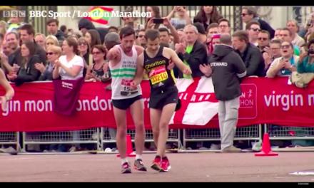 Rétro'sport en images. 23 avril 2017, moment émotion au Marathon de Londres