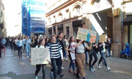 Une centaine de jeunes marchent pour le climat à Toulouse