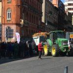 A Toulouse, les agriculteurs manifestent contre la réforme de la PAC